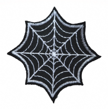 Spider's Web Gothic Shaped Embroidered Patch - A524